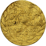 Unknown Ducato d'oro of Francesco IV. Gonzaga in SINCONA Auction 54